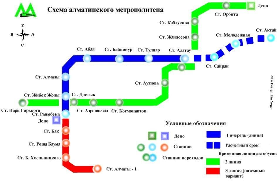 алматинского метрополитена